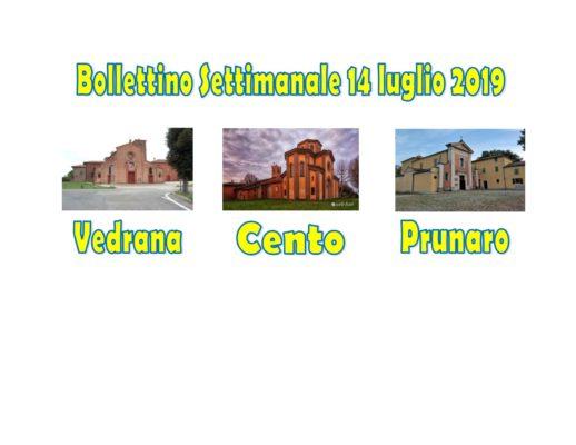 You are currently viewing Bollettino Vedrana Cento Prunaro 14 luglio 2019