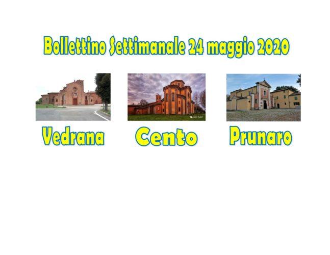 Bollettino Vedrana Cento Prunaro 24 maggio 2020