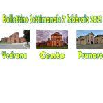 Bollettino Vedrana Cento Prunaro domenica 7 febbraio 2021