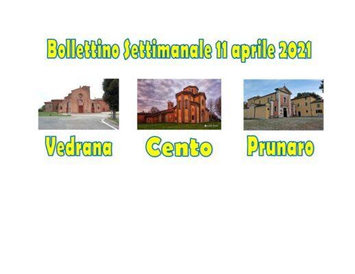 Bollettino Vedrana Cento Prunaro 11 aprile 2021