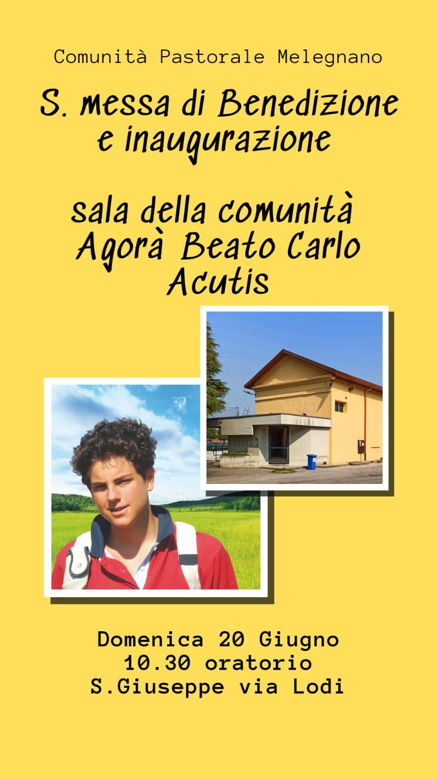 Inaugurazione della sala della comunità Agorà Beato Carlo Acutis