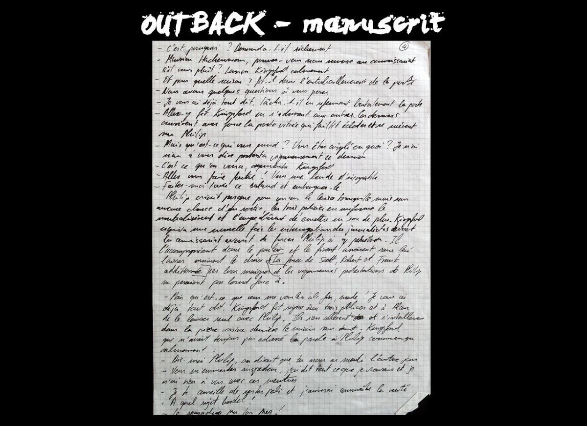 OUTBACK - manuscrit