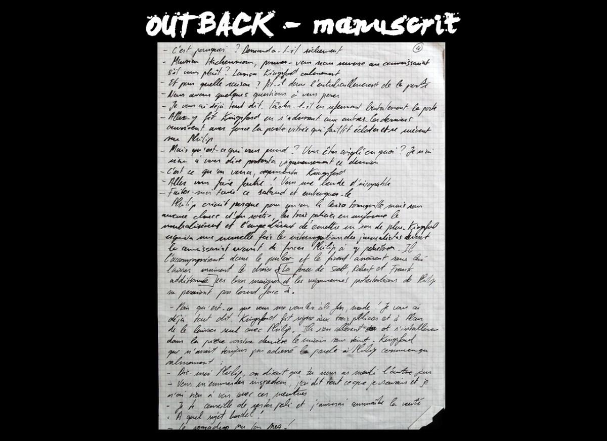 OUTBACK - manuscrit