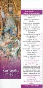 """""""Separador de libros"""" con la sagrada imagen de San Nicolás de Bari (en el reverso lleva el patrocinio secular del milagroso San Nicolás). Se puede adquirir en la Parroquia de San Nicolás de Murcia. (Pulsando en la foto se puede ver ampliada)."""