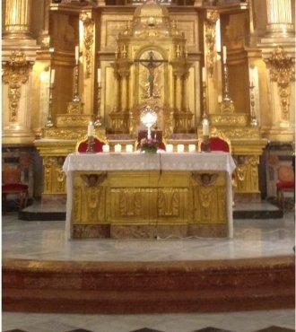 Exposición del Santísimo en nuestra Parroquia de San Nicolás de Murcia.