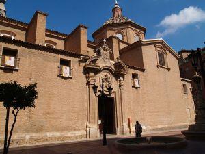 Iglesia parroquial de San Nicolás, Murcia. Portada lateral: Plaza de San Nicolás. (Pulsando en la foto se puede ver ampliada).