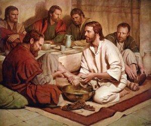 Jesús.Lavatorio de los pies