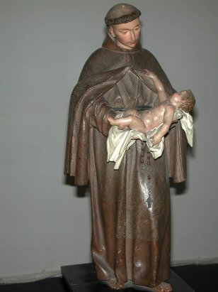 """Imagen sagrada de """"San Antonio de Padua"""". Autor: Alonso Cano (1.666-1.667). Iglesia parroquial de San Nicolás de Murcia. (Pinchando en la imagen se puede ver ampliada)."""