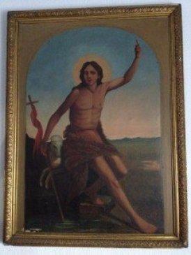 """Cuadro de """"San Juan Bautista"""". Iglesia parroquial de San Nicolás de Murcia. (Pulsando en la imagen se puede ver ampliada)."""