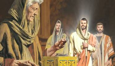 Jesús y la viuda pobre