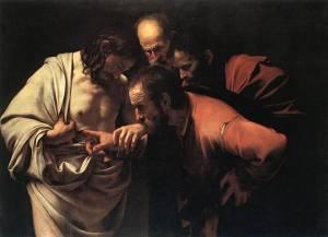 """""""La incredulidad de Santo Tomás"""". Caravaggio (año 1602). (Pulsando en la foto se puede ver ampliada)."""