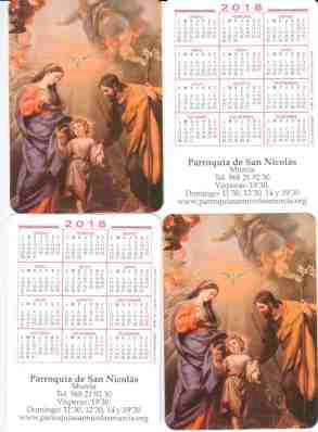 Calendario de bolsillo 2018.