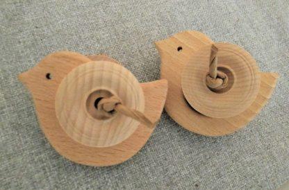 wooden bird foot toy