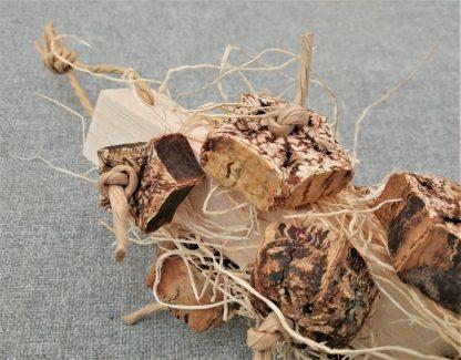 natural bird toys with balsa wood