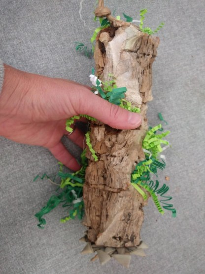 natural cork tunnel for parrots