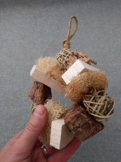 natural bird toys with balsa