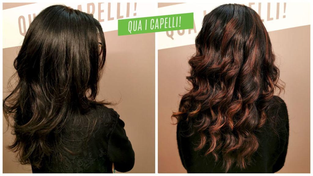 Balayage bronzo su capelli castano scuro