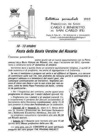 Bollettino Parrocchiale 2013/3