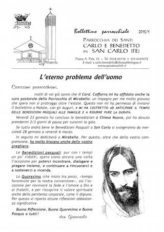 Bollettino Parrocchiale 2015/1