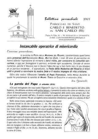 Bollettino Parrocchiale 2016/3