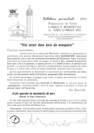Bollettino Parrocchiale 2017/2