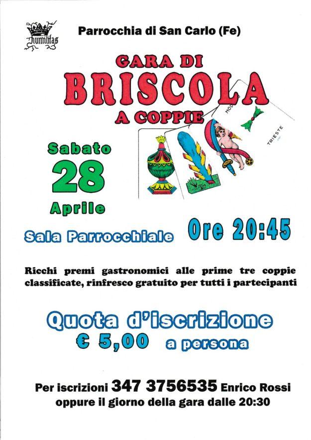 Briscola a Coppie 28/4/2018