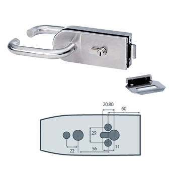 Glass Doors Middle Locks