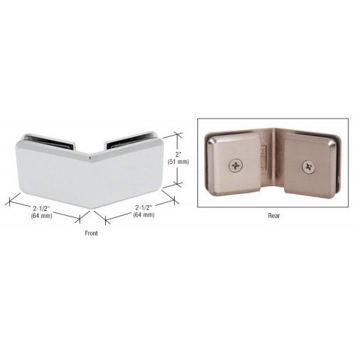 Chrome Beveled 135 degrees Glass-to-Glass Clamp