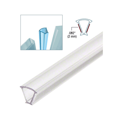 Clear Copolymer Strip for 135 Degree Glass-to-Glass Joints