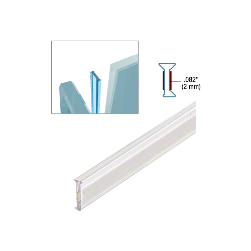 Clear Copolymer Strip for 90 Degree Glass-to-Glass Joints