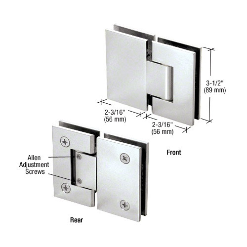 Geneva glass-glass hinge adjustable