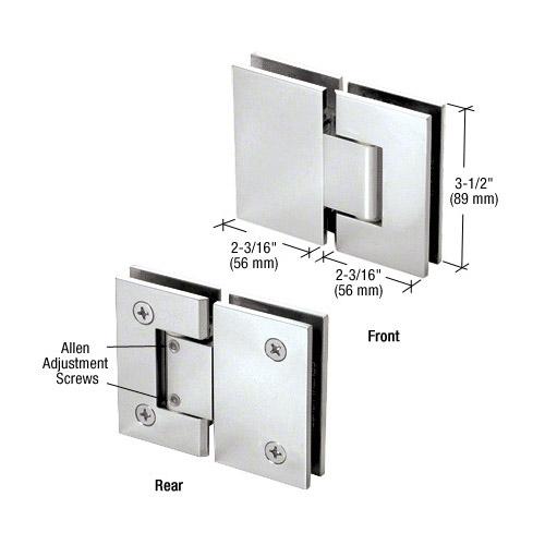 Geneva glass-glass hinge adjustable
