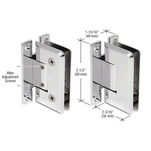 Pinnacle glass-wall hinge (full back plate) adjustable