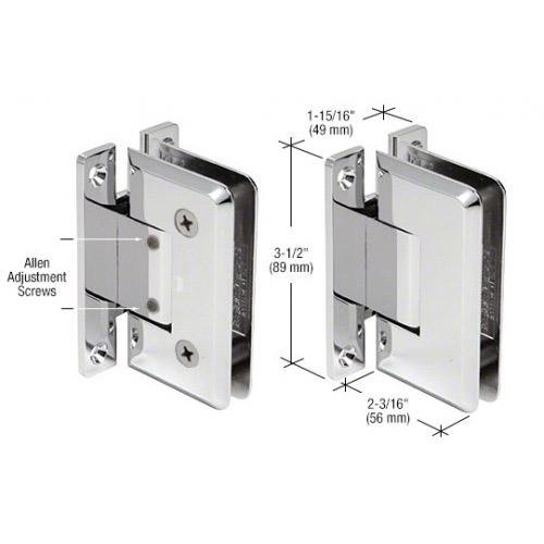 Pinnacle glass-wall hinge (full back plate) adjustable