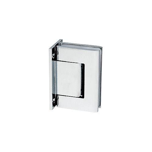 Brite Chrome Vernon Full Back Plate Wall-to-Glass Hinge - NHO