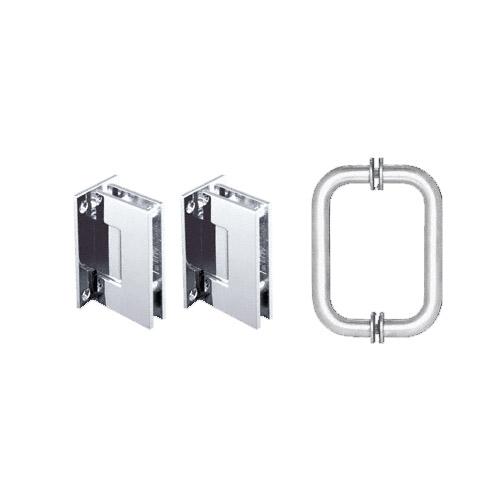 shower door pull handle and hinge set