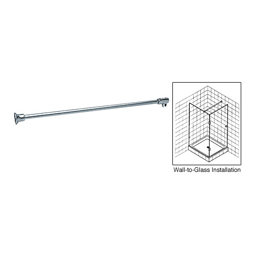 wall to glass support bar