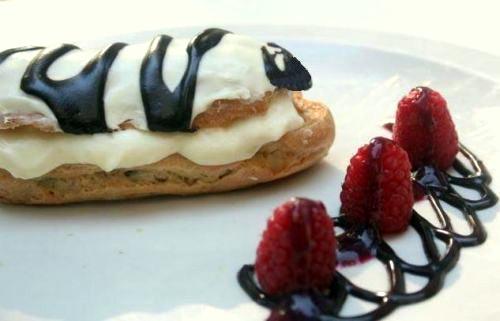 Raspberry White Chocolate Eclairs