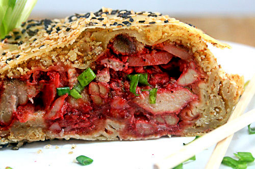Asian BBQ Pork (Char Siu) Strudel!