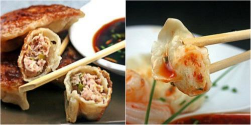 How about a Dumpling, Dumplin'? Pork Potstickers and Shrimp Mousse Dumplings