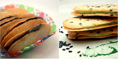 Homemade Milano Cookies - Plain and Black Sesame Matcha (Green Tea)