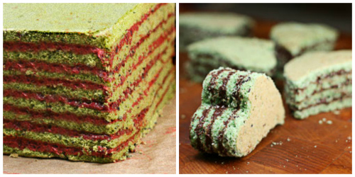 Matcha Black Sesame Red Bean Dobos Torte. A Japanese take on the classic Dobos Torte! and a Mojito Dobos Torte!