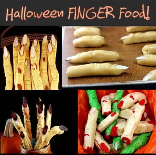 Halloween FINGER FOOD! All kinds of tasty severed fingers for Halloween! Both sweet and savory!