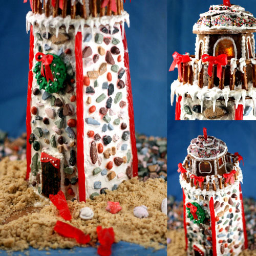 How to build a Gingerbread Lighthouse