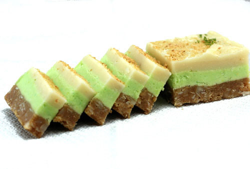 Key Lime White Chocolate Nanaimo Bars with the most amazing coconut macadamia graham cracker crust!