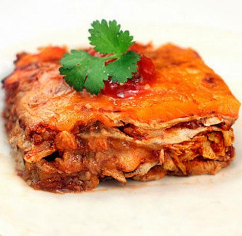 Cheesy, Gooey Chicken Enchilada Bake - Everything from Scratch