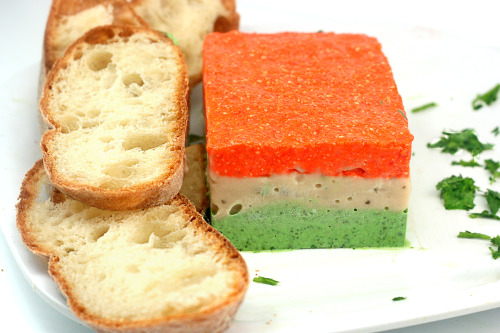 Two recipes for Vegetarian Pate! Chili Mushroom Pate and Tricolor Vegetable Pate! Liver free pate for those who don't like liver and those who don't eat meat!