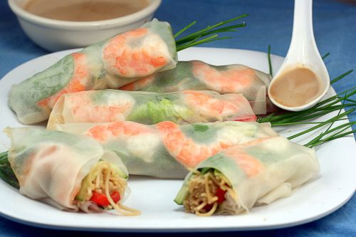 Peanut Butter is not the only Nut Butter! Homemade Nut Butters + 4 Recipes Using Them! These are Fresh Shrimp and Noodles Rice Paper Rolls with Cashew Dressing!