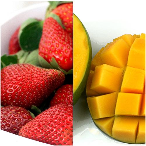 Homemade Strawberry Mango (or Strawberry Peach) Sorbet