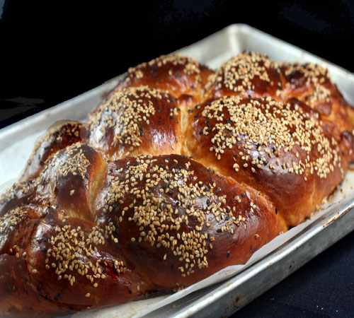 Salted Caramel Apple Sourdough Challah